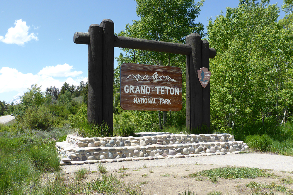 Grand Teton National Park Sign4867