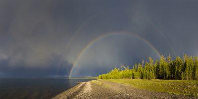 Full Rainbow - Yellowstone Lake, Yellowstone National Park, Wyoming5076