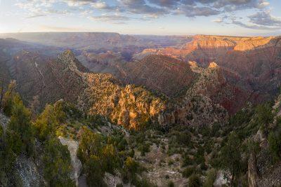 Grand View Sunset, Grand Canyon, Arizona (North view)