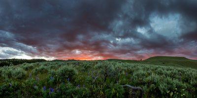 Lamar Valley Sunset, Yellowstone National Park