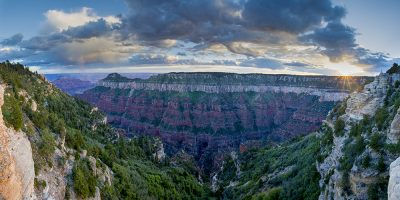 North Rim Sunset Panoramic