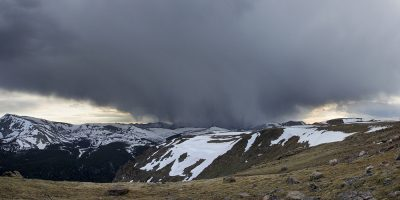 Snow Storm Panoramic - Rocky Mountain National Park, Colorado