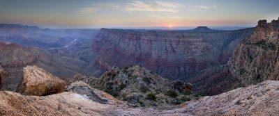 Sunrise - Desert View, Grand Canyon, Arizona (First light)