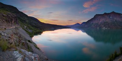 Sunrise over Saint Mary Lake - Glacier National Park, Montana