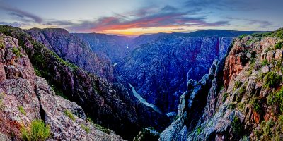 Sunset Point - Black Canyon of the Gunnison National Park, Colorado (Last Light)