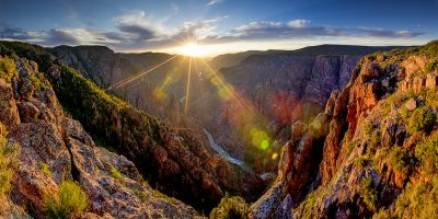 Sunset Point - Black Canyon of the Gunnison National Park, Colorado (Sun Rays)