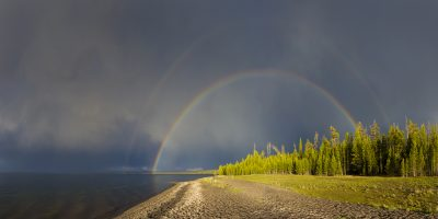 Full Rainbow - Yellowstone Lake, Yellowstone National Park, Wyoming
