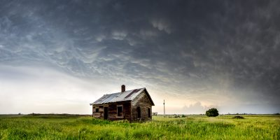 Mammatus Clouds Panoramic - Buffalo County, South Dakota 18th June 2014