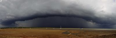 Darwin Harbour Storm Panoramic 17th November
