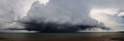 Shelf Cloud over Darwin Harbour