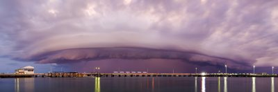 Shelf Cloud over Darwin Harbour 4-4-15