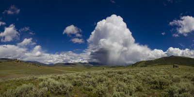Storm over Lamar Valley, Yellowstone National Park, Wyoming
