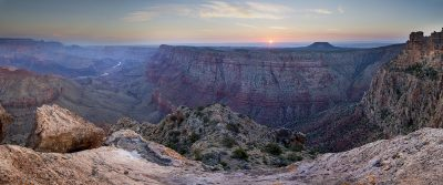 Sunrise - Desert View, Grand Canyon, Arizona (First light)