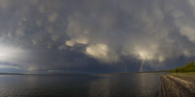 Mammatus Clouds over Yellowstone Lake, Yellowstone National Park, Wyoming